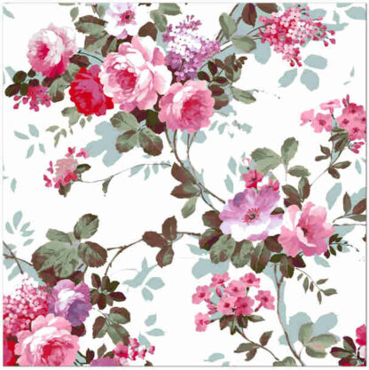 Shabby chic ceramic wall tile, red and pink roses pattern, Product Code Q12