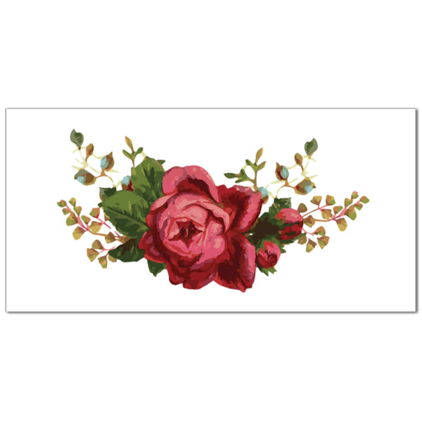 Dark Pink Rose Ceramic Border Wall Tile