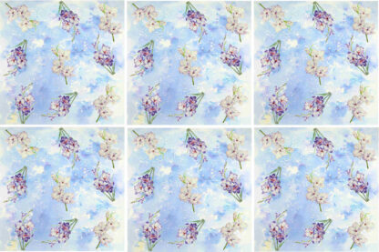 Blue Phlox pattern floral ceramic wall tile pattern example