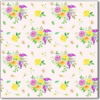 Flower Spray Pattern Ceramic Wall Tile