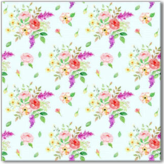 Flower bouquet pattern ceramic wall tile