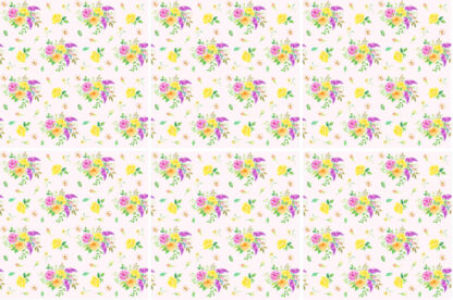 Flower Spray Ceramic Wall Tile Pattern Example