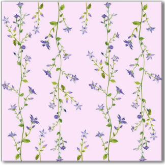 Pink Forget-Me-Not Ceramic Wall Tile Pattern Example
