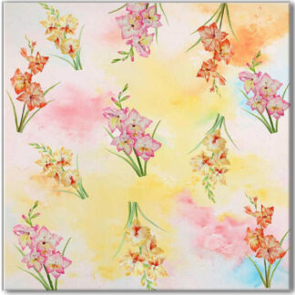 Pink Phlox Floral Pattern Ceramic Wall Tile