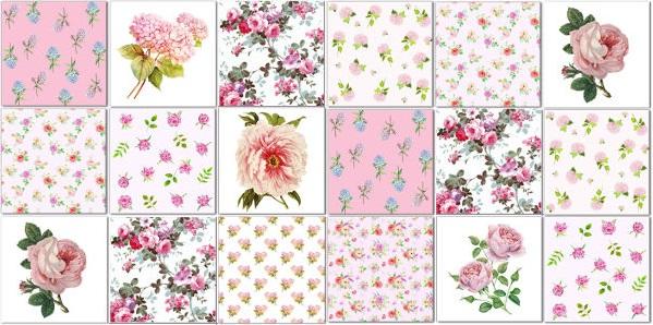 Splashback Tiles - Floral Tiles Pattern Design Idea in Blues