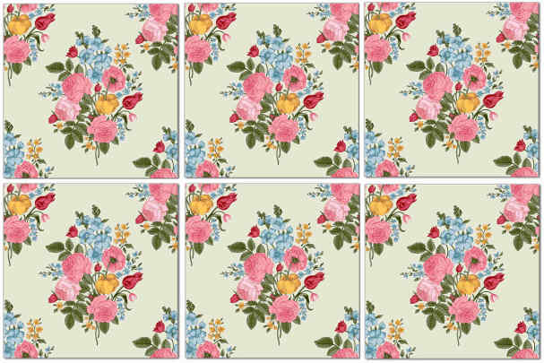 Vintage Tiles - Seamless Flower Pattern Example