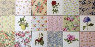 Kitchen splashback tiles ideas - decorative patterned tiles by Floral Tiles.