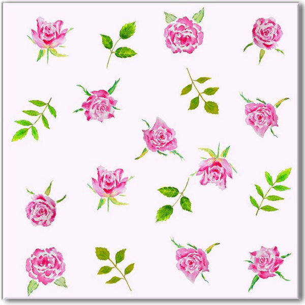 Pink Tiles - Pink Roses Patterned Wall Tile