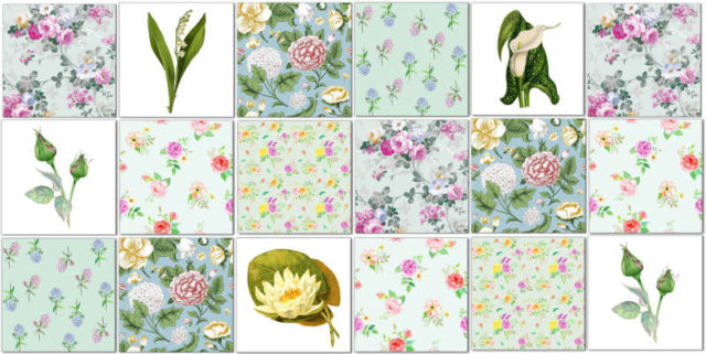 Green Tiles - Eclectic green patchwork tiles pattern example