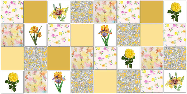 Yellow Tiles Patchwork Tile Pattern Example