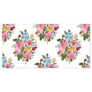 Vintage Style Flower Spray Border Tile - White