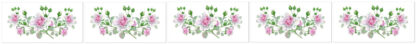 Dusky Pink Roses Ceramic Border Wall Tile Pattern Example