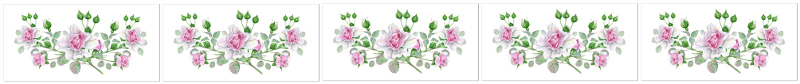 Dusky Pink Roses Ceramic Border Wall Tile Pattern Example