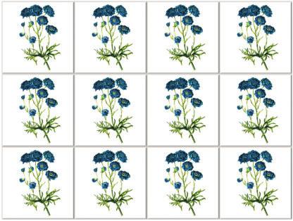 Dark Blue Cornflower Ceramic Wall Tile