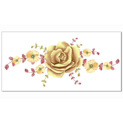 Yellow Camelia Ceramic Border Tile